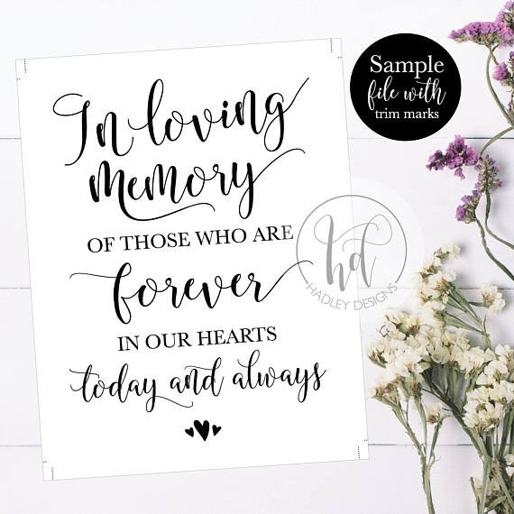 In Loving Memory Templates 5 Wedding Sign Templates Pdf