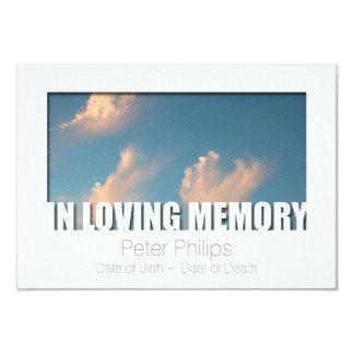 In Loving Memory Templates Add Your Image Funeral Invitations & Announcements
