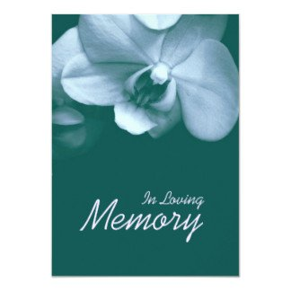 In Loving Memory Templates Funeral Invitations & Announcements
