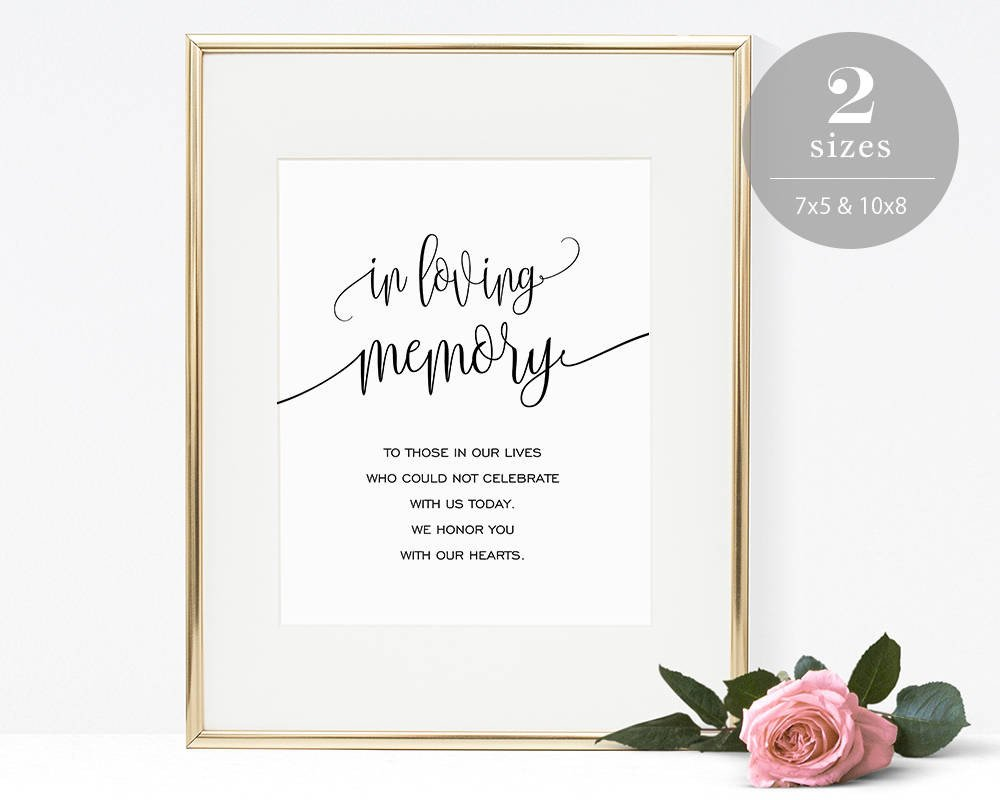 In Loving Memory Templates In Loving Memory Sign Template Printable In Memory Sign