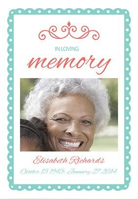 "In Loving Memory Templates ""in Loving Memory"" Printable Invitation Template"