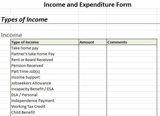 Income and Expense form 27 Best Images About forms On Pinterest