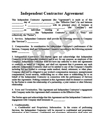 Independent Contractor Contract Template Create An Independent Contractor Agreement