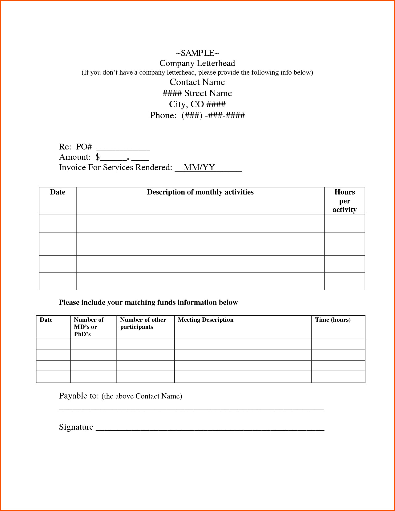 Independent Contractor Invoice Template 11 Independent Contractor Invoice Template