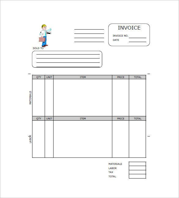 Independent Contractor Invoice Template Contractor Invoice Template 11 Free Word Pdf format