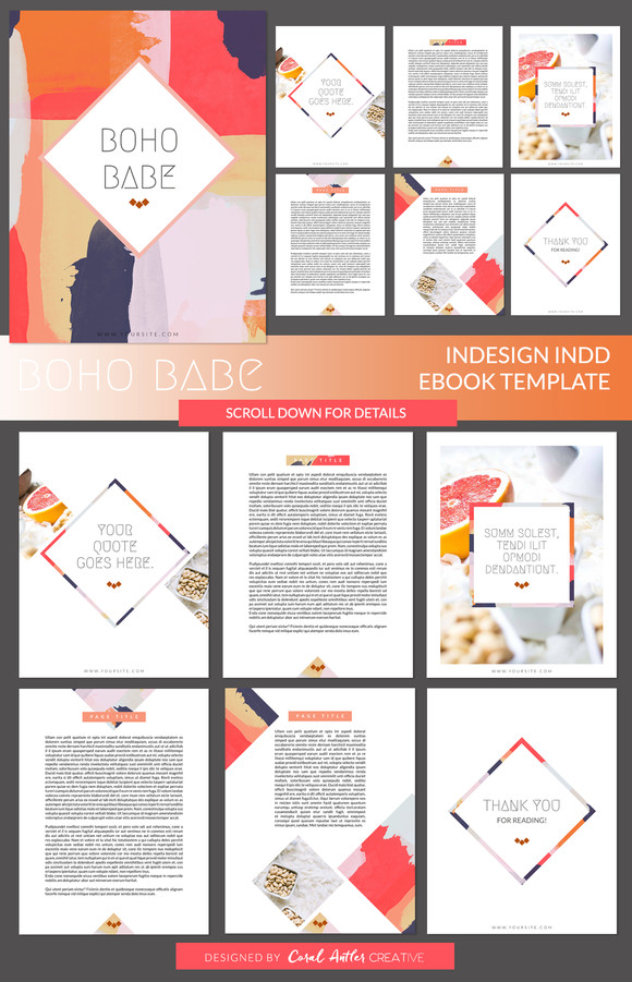Indesign Book Layout Template Boho Babe Indesign Ebook Template by Coral Antler Creative