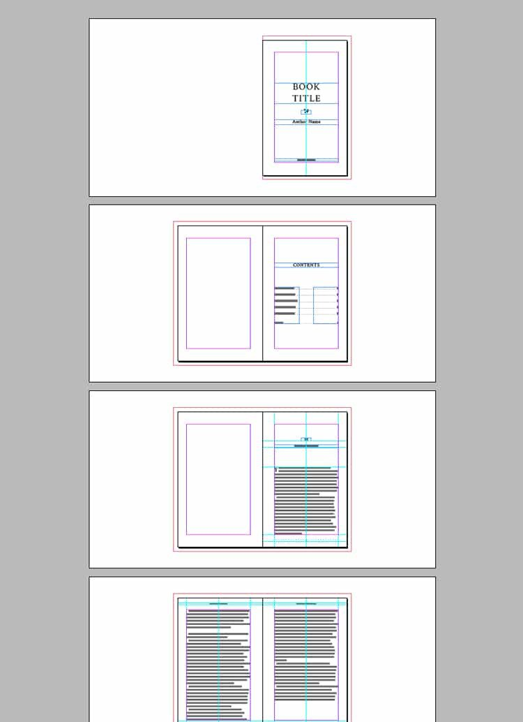 Indesign Book Layout Template Full Book Template for Indesign