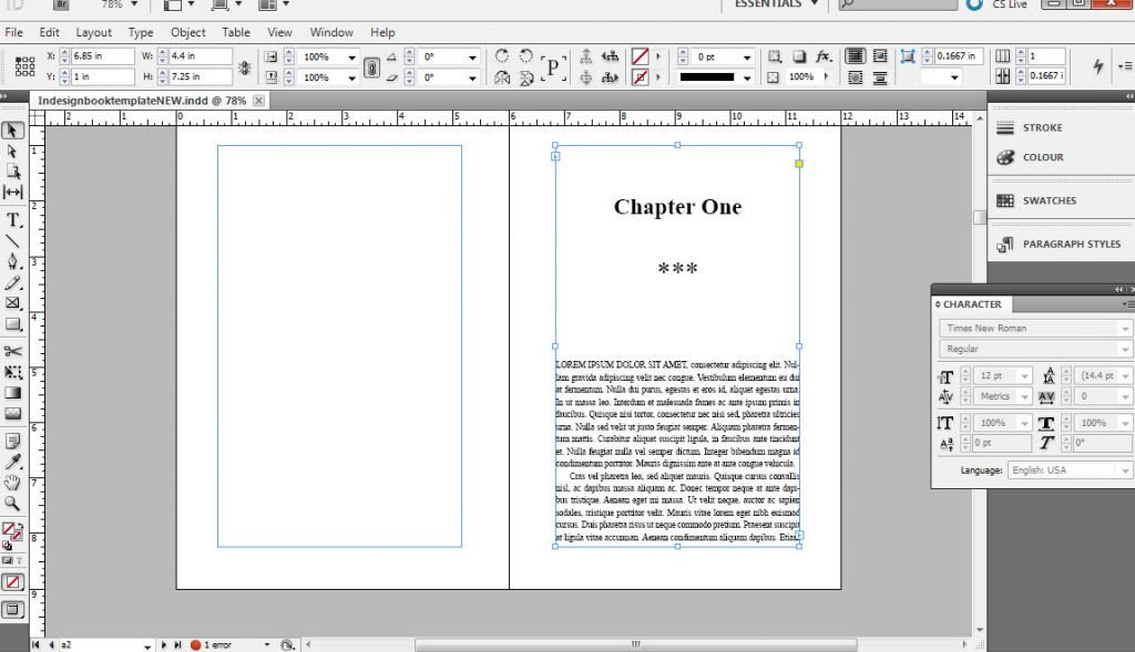 Indesign Book Layout Template How to format A Book In Indesign Free Templates