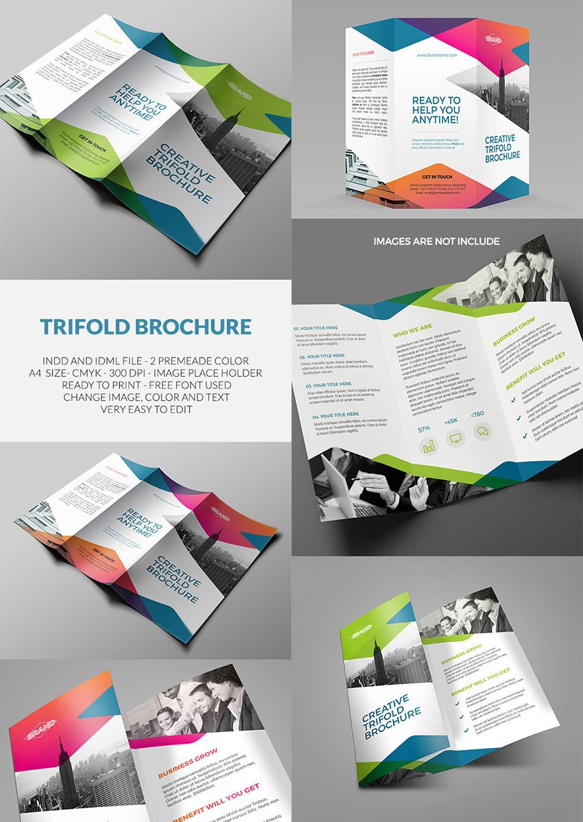 Indesign Trifold Brochure Templates 20 Best Indesign Brochure Templates for Creative