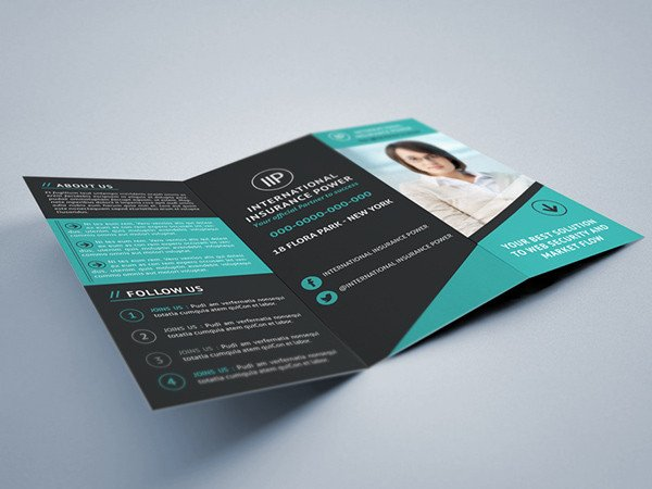 Indesign Trifold Brochure Templates Business Tri Fold Brochure On Behance