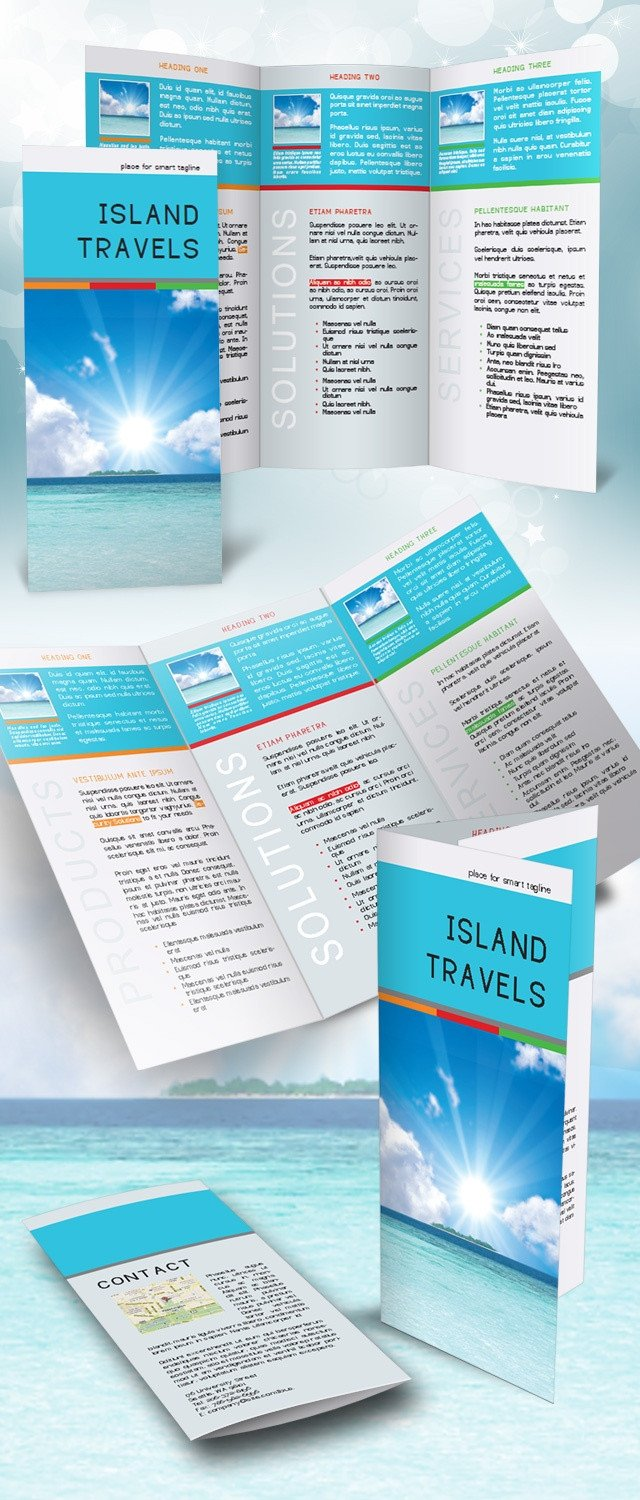Indesign Trifold Brochure Templates Indesign Tri Fold Brochure Template Free