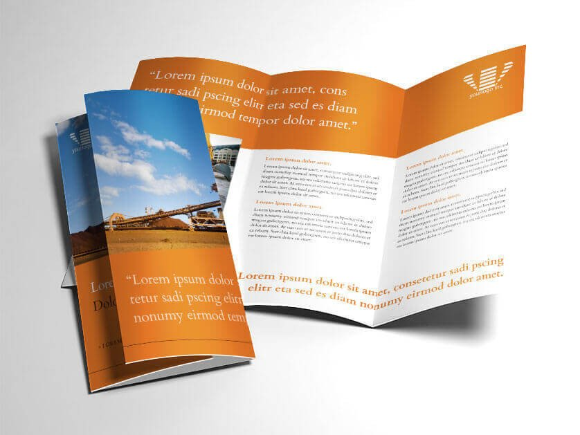 Indesign Trifold Brochure Templates Indesign Trifold Brochure Template Industrial Mining theme