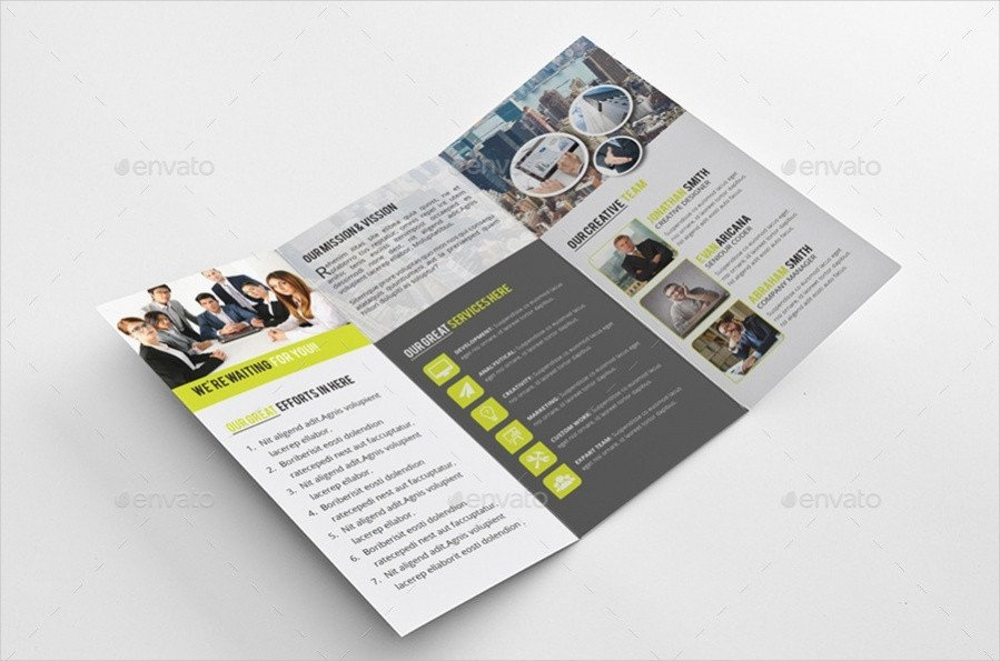 Indesign Trifold Brochure Templates Tri Fold Brochure Designs Psd Vector Download