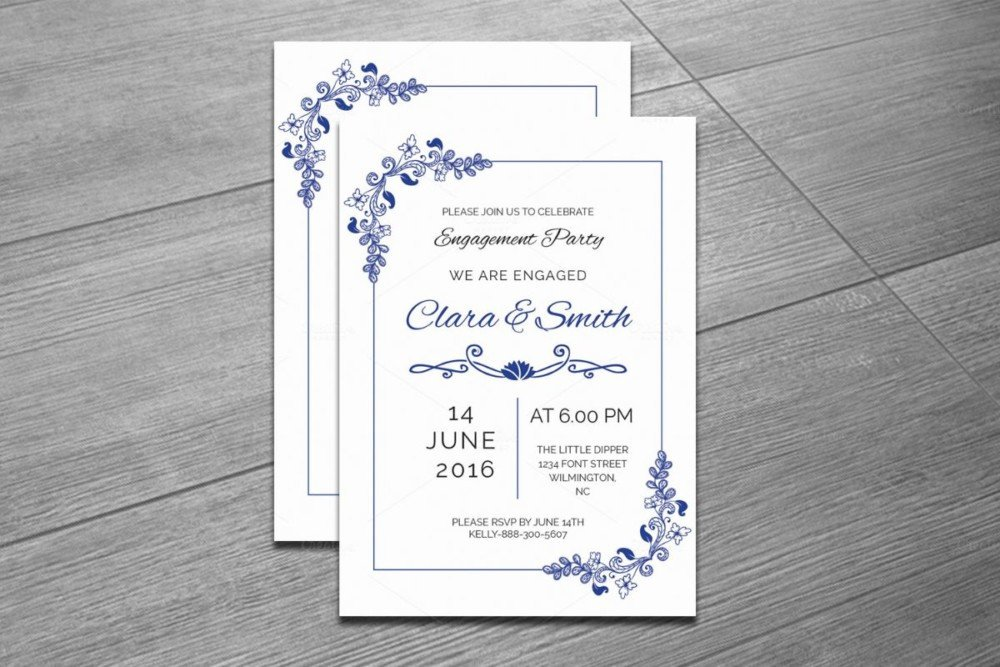 Indesign Wedding Invitation Template 20 Engagement Invitation Template Word Indesign and Psd