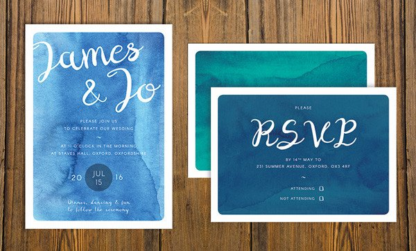 Indesign Wedding Invitation Template How to Create A Watercolor Wedding Invitation In Adobe