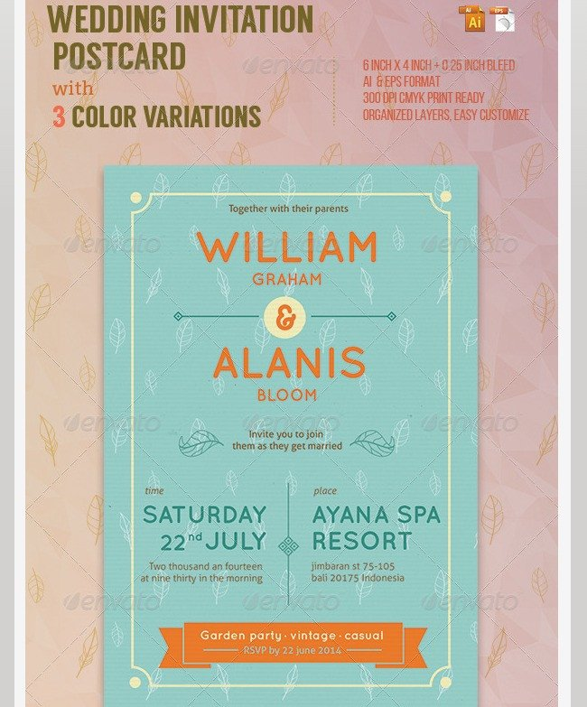 Indesign Wedding Invitation Template Indesign Wedding Invitation Templates