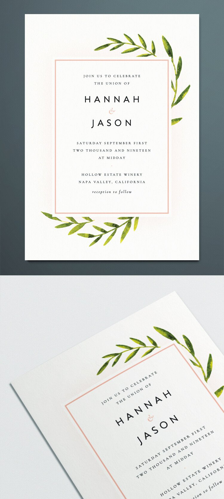Indesign Wedding Invitation Template Vintage Business Card Template for Indesign