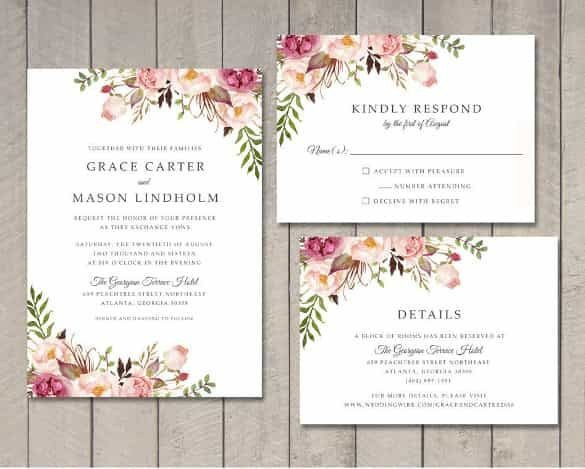 Indesign Wedding Invitation Template Wedding Invitation Template 71 Free Printable Word Pdf