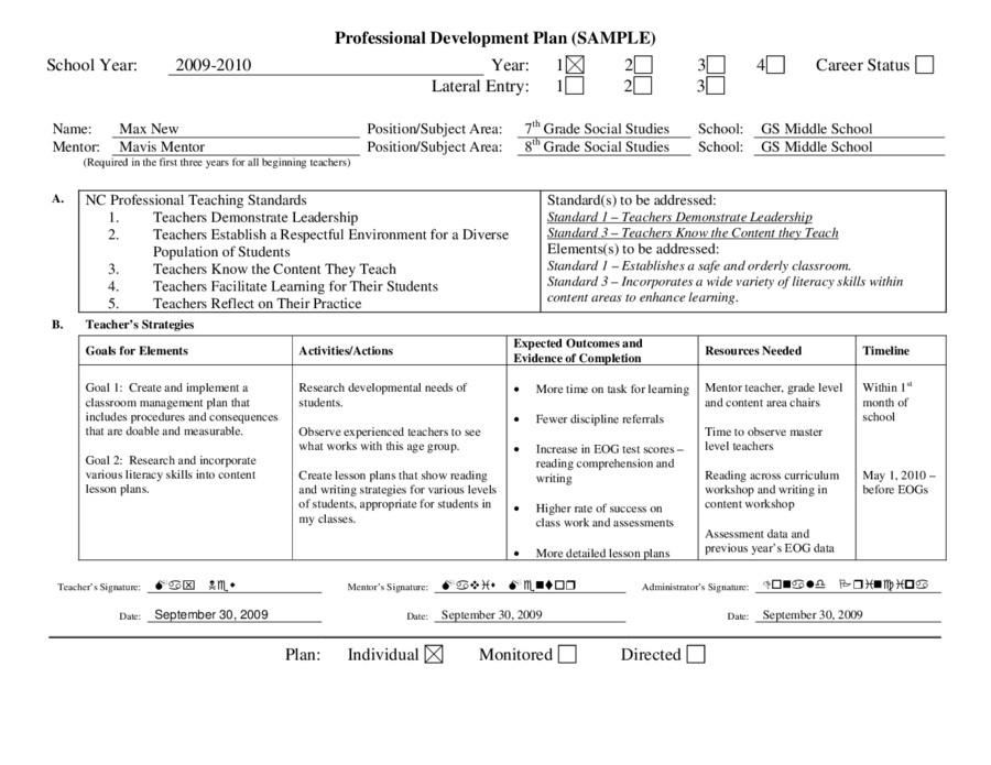 Individual Development Plan Template Personal Development Plan Template – How to Write Personal