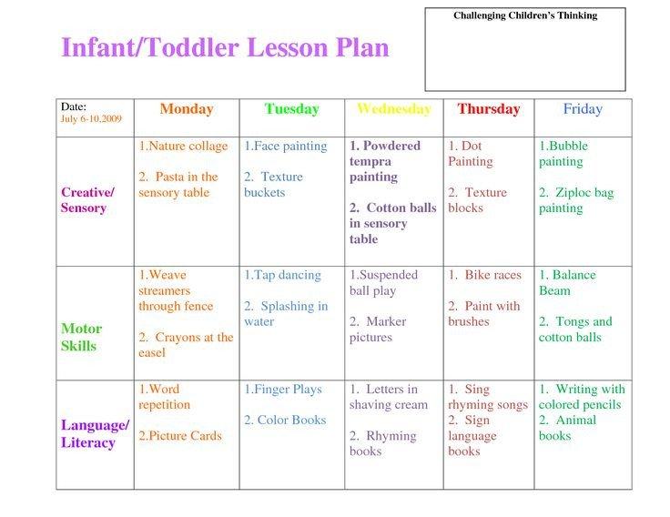Infant Lesson Plan Template Best 25 toddler Lesson Plans Ideas On Pinterest