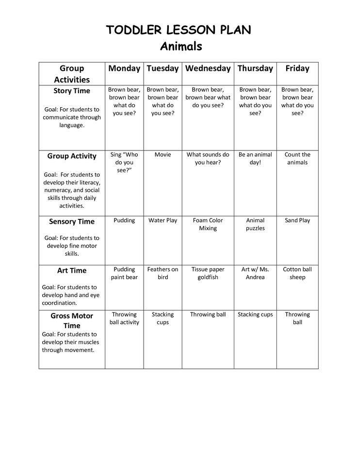 Infant Lesson Plan Template Infant Blank Lesson Plan Sheets