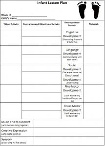 Infant Lesson Plan Template Infant Lesson Plan Suggestions – Teach Preschool
