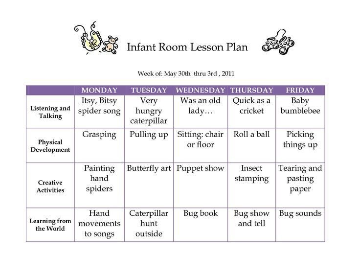 Infant Lesson Plan Templates Creative Curriculum