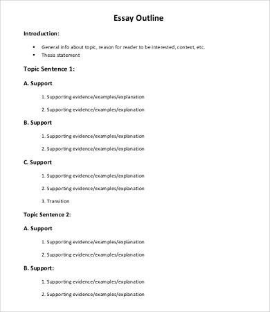 Informative Essay Outline Template Informative Essay – 9 Free Samples Examples format