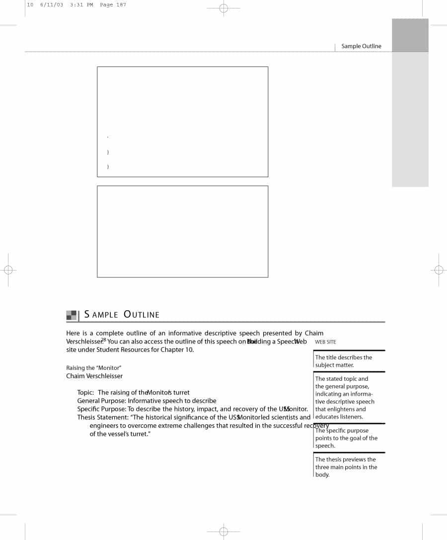 Informative Speech Outline Template 43 Informative Speech Outline Templates & Examples