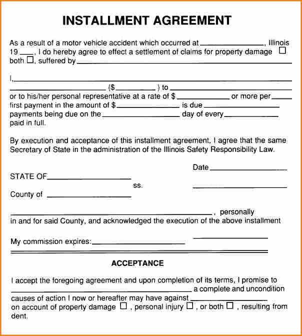 Installment Payment Agreement Template 6 Installment Payment Contract Template