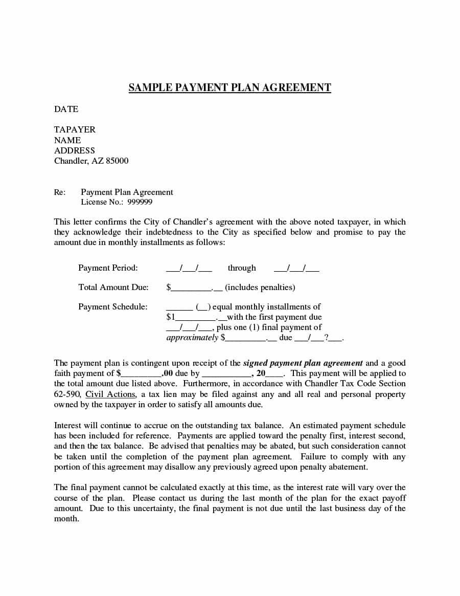 Installment Payment Contract Template Payment Agreement 40 Templates & Contracts Template Lab