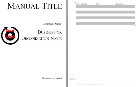Instruction Manual Template Word 5 Free Training Manual Templates Excel Pdf formats