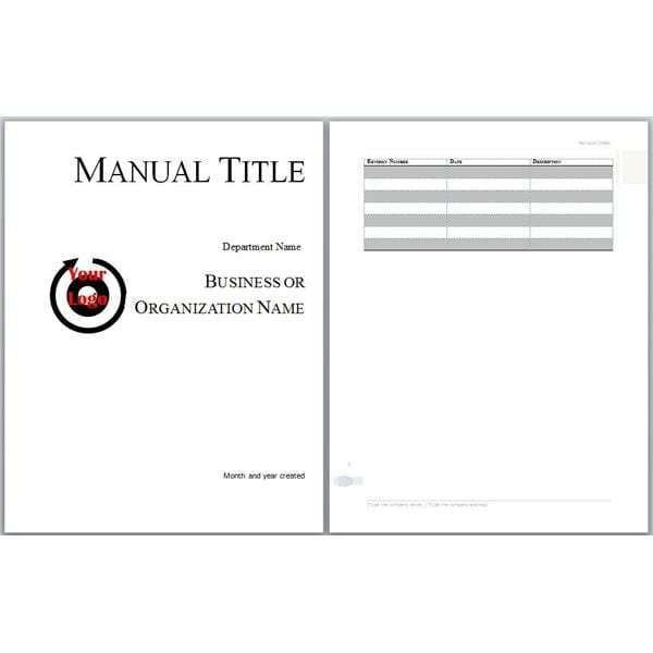 Instruction Manual Template Word 6 Free User Manual Templates Excel Pdf formats
