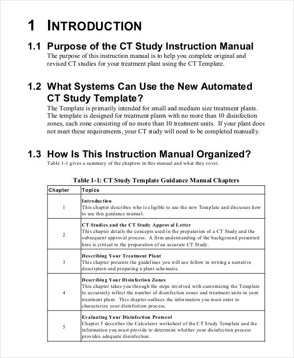 Instruction Manual Template Word Instruction Manual Template 10 Free Word Pdf Documents