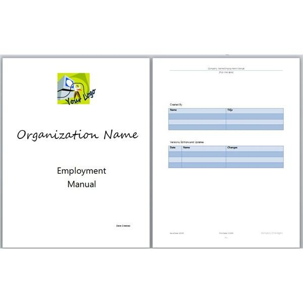 Instruction Manual Template Word Microsoft Word Manual Template Basic and Employment