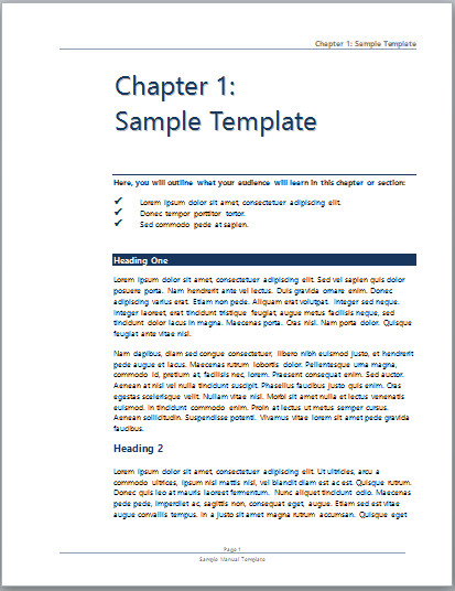 Instruction Manual Template Word User Manual Template Microsoft Word Templates
