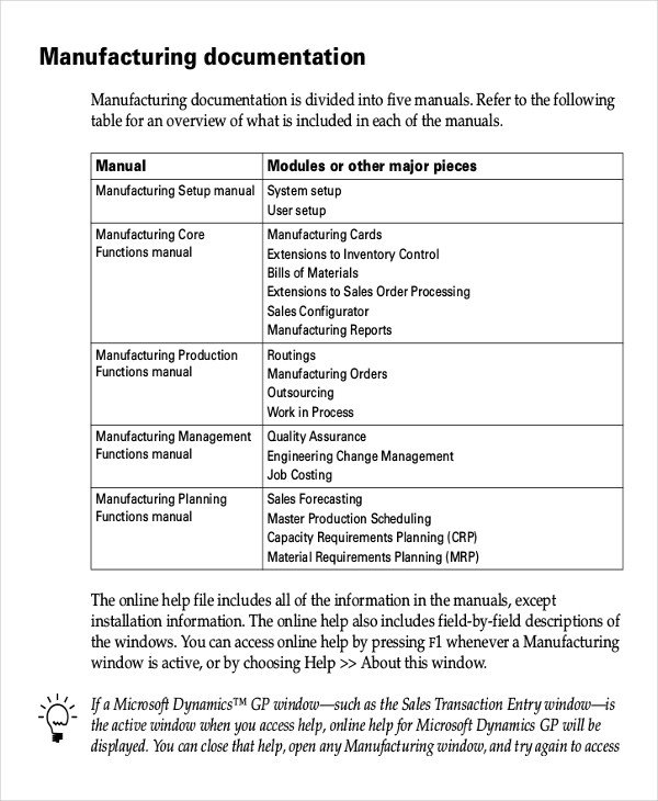 Instruction Manual Template Word Working Instruction Template 6 Free Word Pdf Document