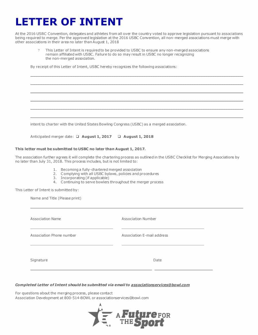 Intent to Hire Letter 40 Letter Of Intent Templates & Samples [for Job School