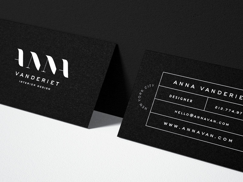 Interior Design Business Cards Anna Vanderiet Interior Design Business Card by Mel