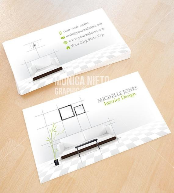 Interior Design Business Cards Custom Printable Interior Design Business Card Template