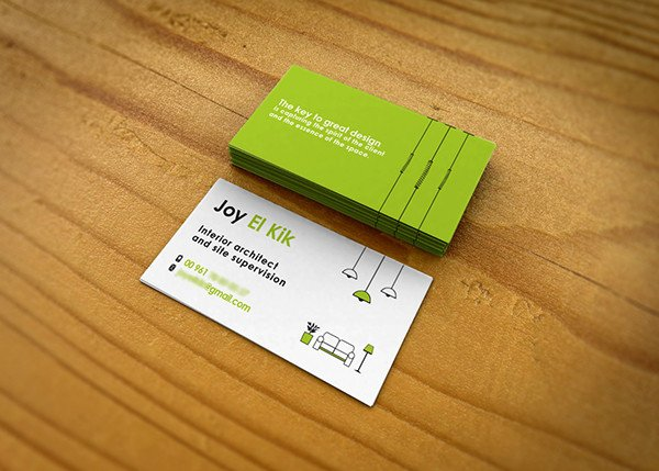 Interior Design Business Cards Interior Designer Business Card On Behance