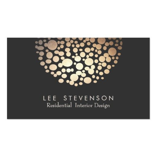 Interior Design Business Cards Interior Designer Lighting Black Modern Business Cards