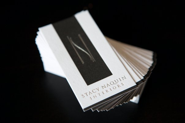 "Interior Design Business Cards Interior Designer Stacy Naquin's Understated ""bling"