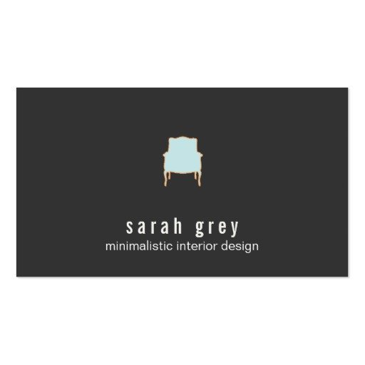 Interior Design Business Cards Minimalistic Interior Design Business Card