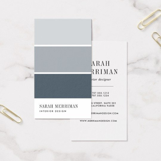 Interior Design Business Cards Paint Chip