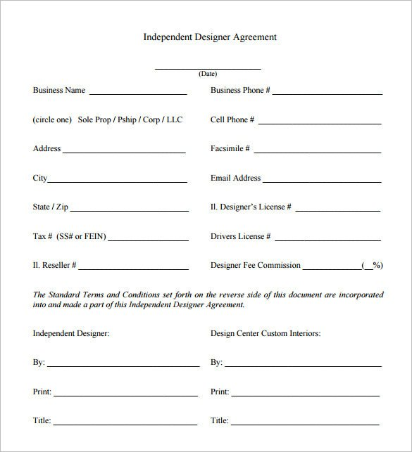 Interior Design Contract Sample 6 Interior Designer Contract Templates – Free Word Pdf