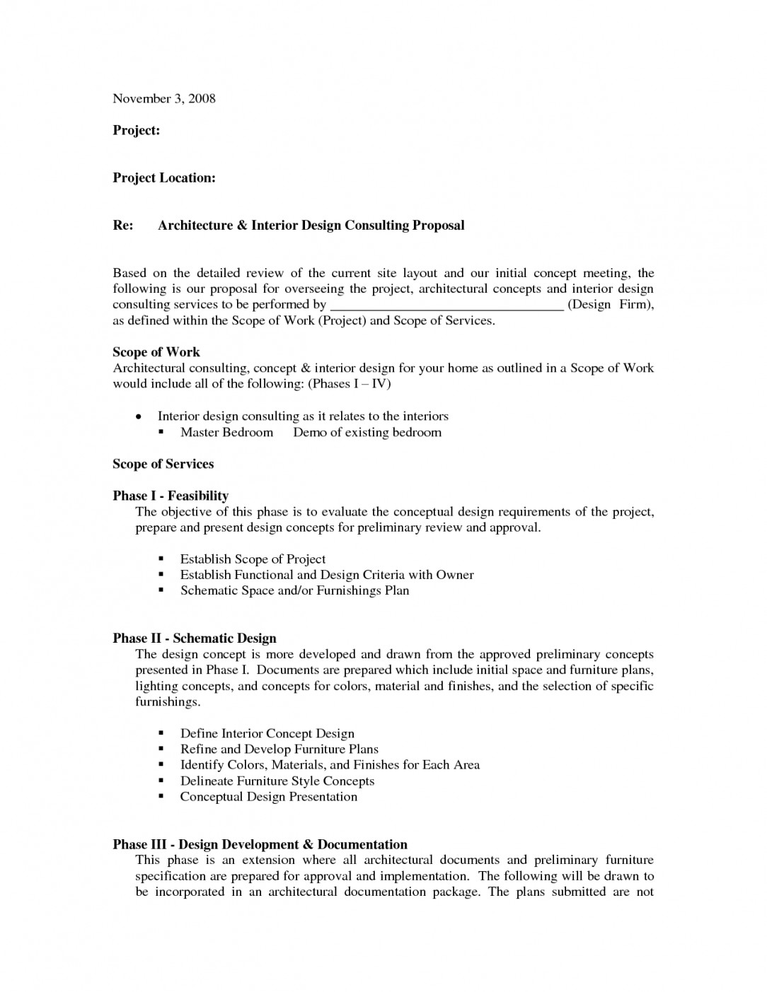 Interior Design Contract Sample Image for Interior Design Quotation Sample