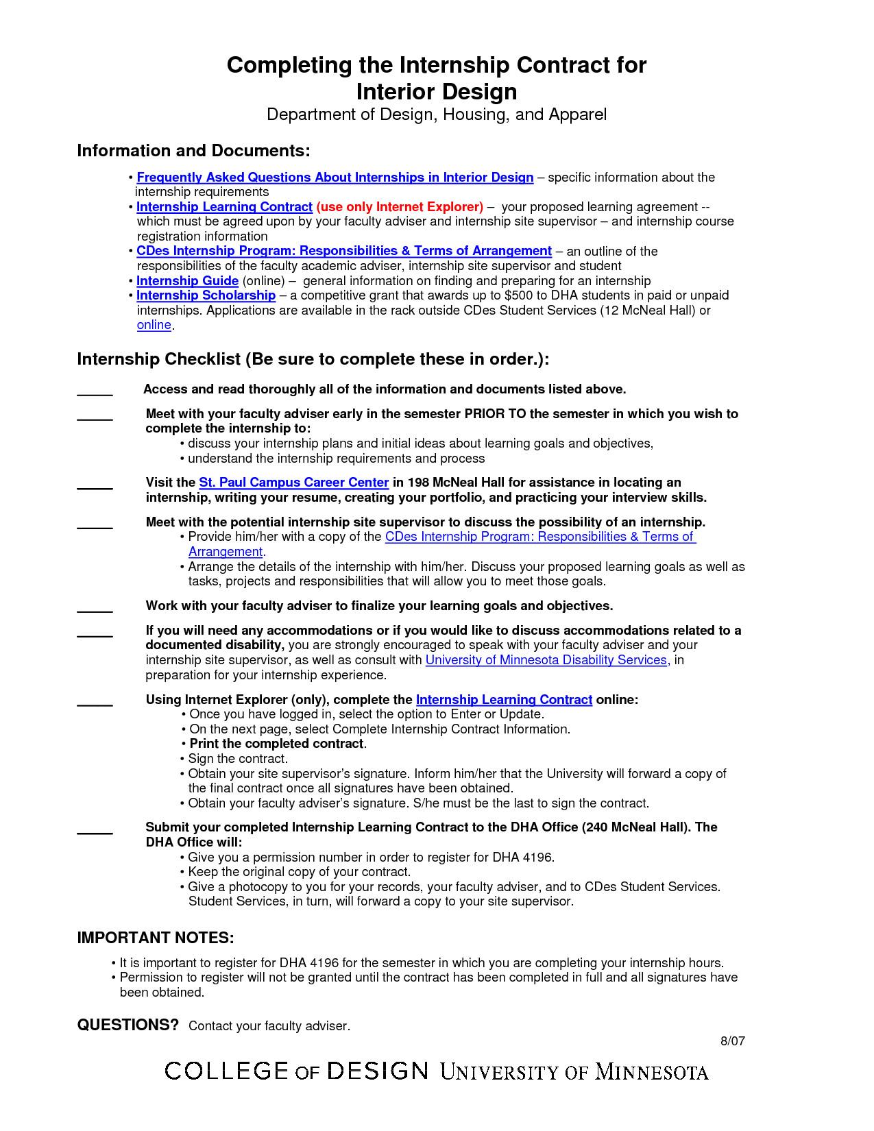 Interior Design Contract Sample Interior Design Contract Template