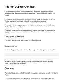 Interior Design Contract Templates Document & Contract Templates [200 Free Examples] Edit