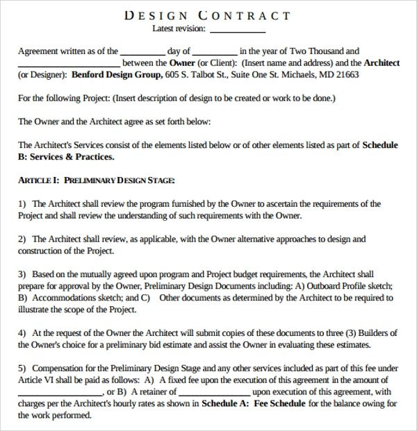 Interior Design Contract Templates Sample Interior Design Proposal Template 16 Free